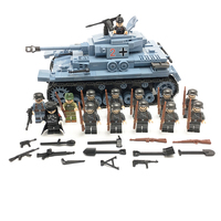 Military WW2 German Soldier Officer Medium tank Weapon Model Building Blocks Bricks Toys Compatible LegoINGlys Army Accessories