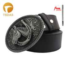 Horse Belt Buckle For Men Buckles Metal Animal With Silver Plating Luxury