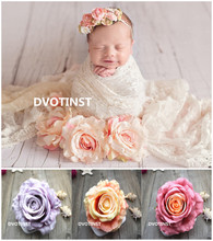 Dvotinst Baby Photography Props Simulation Roses Flower Decoration Flora Fotografia Accessories Studio Shooting Photo Props(China)