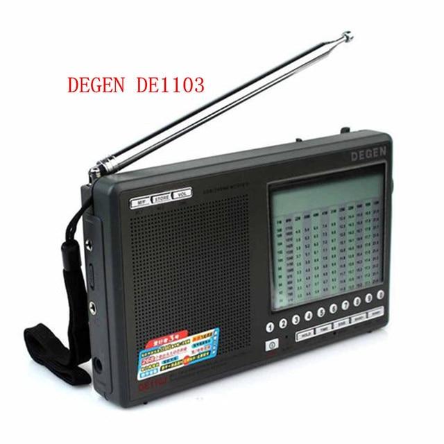 Высокое качество DSP Degen DE1103 Радио FM SW MW LW SSB стерео Всемирный Приемник Внешней Антенны цифровой портативный Радио бесплатно доставка