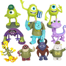 Disney Pixar Monsters University Monsters Inc James P. Sullivan Mike Wazowski Randall Boggs PVC Model Toys For Children Gift monsters inc 43cm sulley sullivan 25cm babblin boo plush toy monsters university soft stuffed doll for kids gift