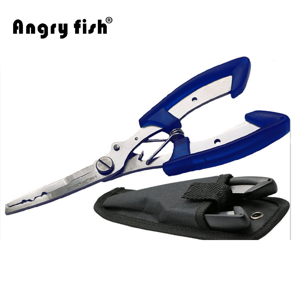 Angryfish Caldo Strumenti di Pesca Acciaio Inox Pinze di Pesca Forbici Linea Cutter Strumento Utile L1 Blu Nero Disponibile