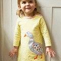 Meu Amigo Pato Crianças Girls Dress-Vestido Da Menina Do Bebê Do Algodão Puro