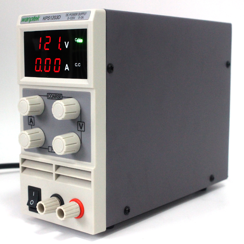 Wanptek KPS1203D 120V 3A 0.1V 0.01A Adjustable High precision digital LED display switch DC Power Supply