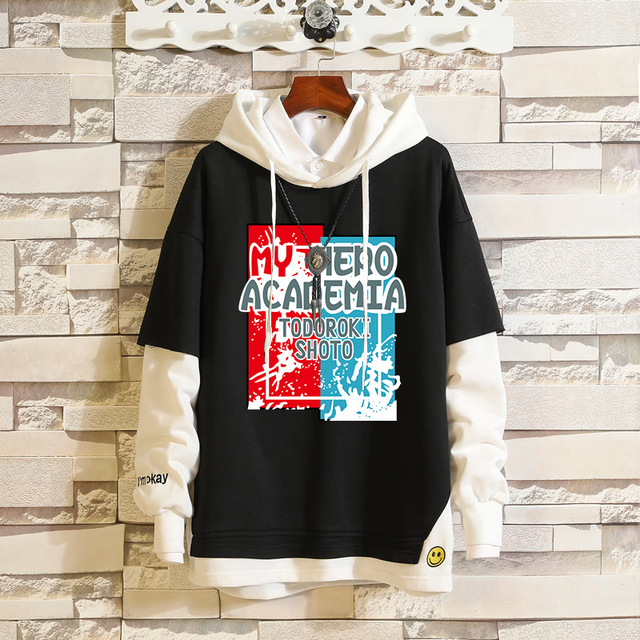 MY HERO ACADEMIA THEMED PULLOVER HOODIE (8 VARIAN)