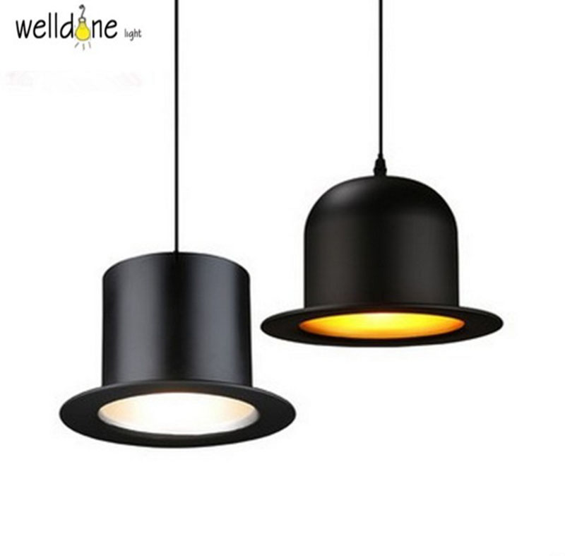 aluminum hat suspension lamp black cap JEEVES AND WOOSTER pendant light hanging lighting dinning hall clothing shop hand made wool felt hat aluminum suspension lamp cap jeeves and wooster pendant light hanging lighting dinning hall couture