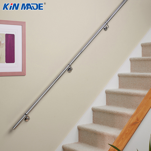 Kinmade Wall Mounted Staircase Rail Stainless Steel 42 4mm Handrail Support Kit