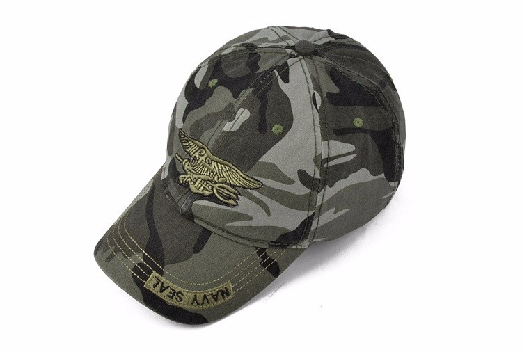 PPSTYLE Navy Seal Summer Casual Camouflage Baseball Cap Men Adjustable Army Tactical Hats Fashion Cotton Camo Tactical Caps Unisex