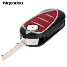 Mgoodoo 3 Buttons Flip Folding Remote Key Shell Fob For Alfa Romeo Mito Giulietta Brera 159 GTA Replacement Key Case Car-covers цены онлайн