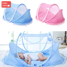 Babycare Baby Crib Mosquito Net Newborn Portable Foldable Home Queen Bed Anti Mosquito Window Net Mesh Infant Mosquito Net Blue