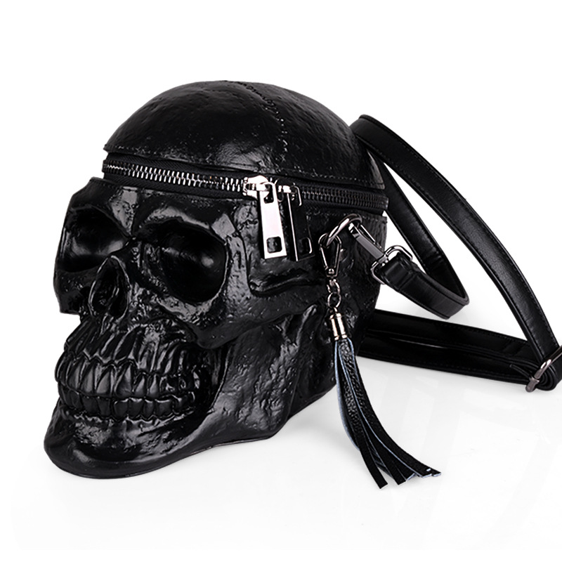 2018 silica gel Shoulder bag fashionable personality oblique Bag 3D Skull Shoulder Bag Crossbones Messenger Bag rockspace zircon stereo earphone quality sound earbud for iphone in ear earphones hands free headset with mic right angle plug