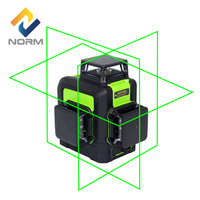 Norm 3D Green Rotary Beam 12 Lines Laser Auto Leveling Laser Level with tripod piovoting base and battery