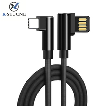 90 Degree USB Cable Zinc Alloy Mobile Phone Cables L Bending Game for iPhone 5 6 6s 7 8 X iPad Charger
