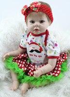 22 дюйма силиконовые Кукла реборн младенцев мягкий винил жизнь как реалистично новорожденных Куклы Поддельные Детские, которые выглядят ка