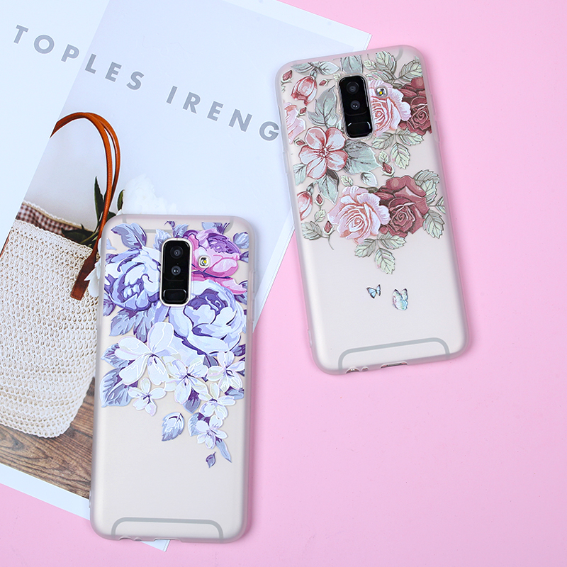 Image 5 - EIRMEON 3D Relief Case For Samsung Galaxy A6 Plus 2018 S8 S7 Edge S9 Plus A5 2017 J2 J3 J5 J7 A3 A5 A7 2016 J6 2018 Floral Cases-in Fitted Cases from Cellphones & Telecommunications