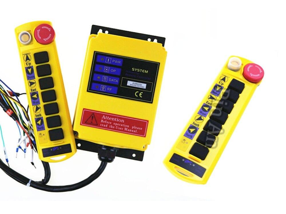 2 Transmitters 8 Channels Hoist Crane Radio Remote Control System A1002 Transmitters 8 Channels Hoist Crane Radio Remote Control System A100