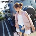 New Korean Luxe Slik Pink Bomber Jacket Women Basic Coats Chaquetas Mujer Blouson Femme Fake Two Pieces Satin Jackets