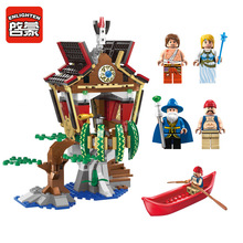 Enlighten 1309 Legendary Pirates Over-Water Village Free Spirit Spheres Minifigure Assemble Building Block   Toys