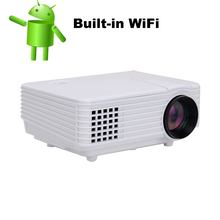 2016  Home Theater 3D Cinema 1080P HD pico projector with Wireless Wifi  android 4.4 HDMI USB Video Digital Multimedia LCD LED