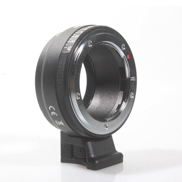 Adaptateur Commlite pour objectif avec cadran d'ouverture pour Nikon G, DX, F, AI, S, D pour appareil photo Sony e-mount NEX