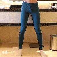 Бесплатная доставка Новый WJ мужские подштанники плотно низкой талией 100% Хлопковые Леггинсы 100% хлопок теплые брюки 8 видов цветов размеры S M ...