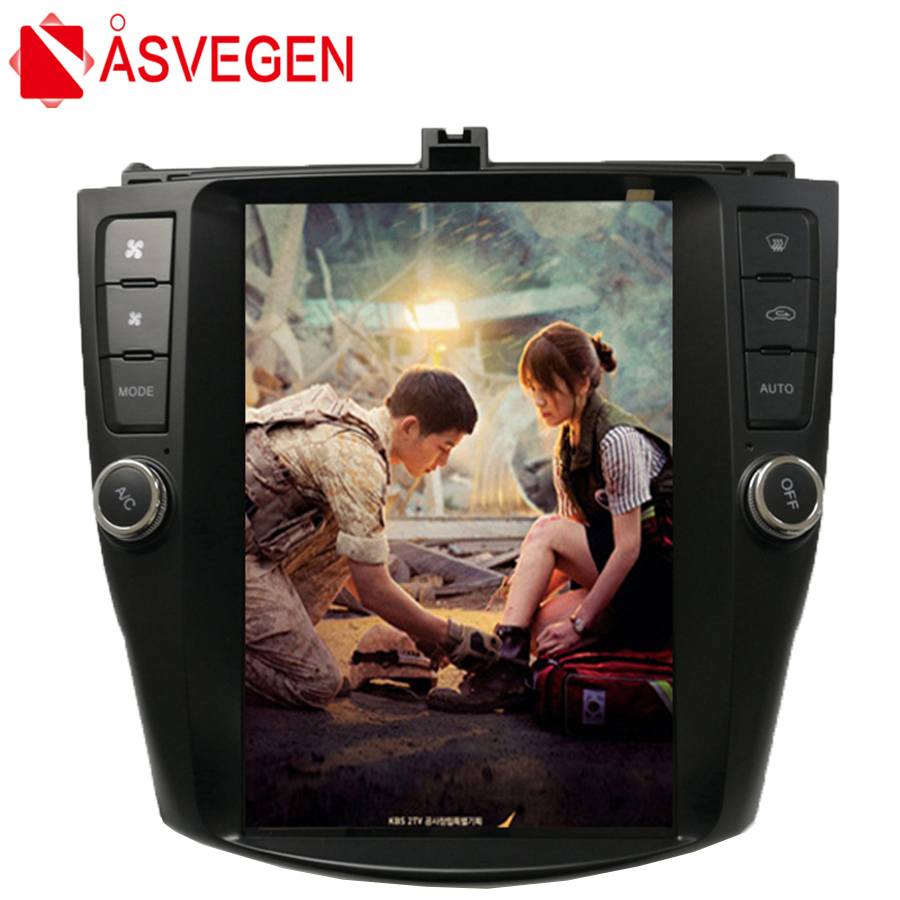 Asvegen 10.4 inch Vertical Screen <font><b>Android</b></font> Car Dvd player For <font><b>Honda</b></font> <font><b>Accord</b></font> 2003-2007 GPS 4G WIFI BT <font><b>Radio</b></font> Stereo Navi Multimedia image