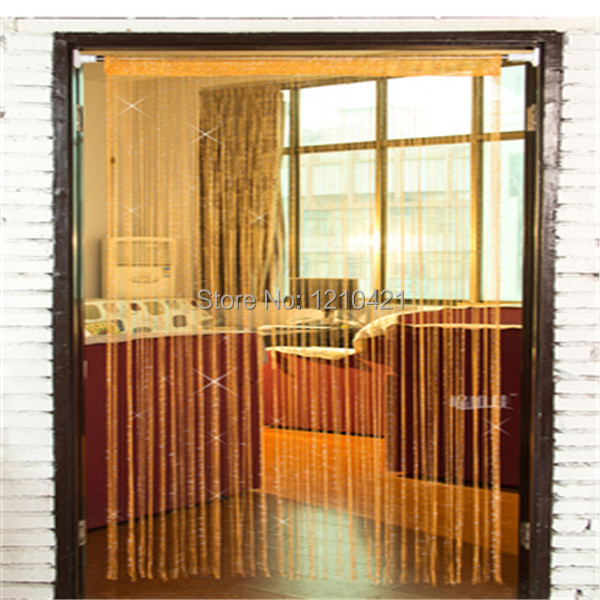 New  sitting room adornment High-grade flashing silver shade straight curtain with silver encryption with free shipping