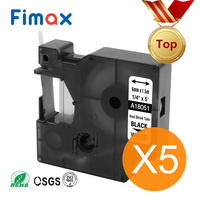 Fimax 5 Pcs Compatible for Dymo Industrial Heat Shrink Tube 18051 6mm 18052 18053 18054 18055 18056 for DYMO Rhino Label Printer