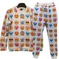 Venda quente Dos Homens/Mulheres emoji Camisola 3d Impresso calças emoji moletom com capuz roupas bonitas mulheres suores Casuais Casais camisolas Tops