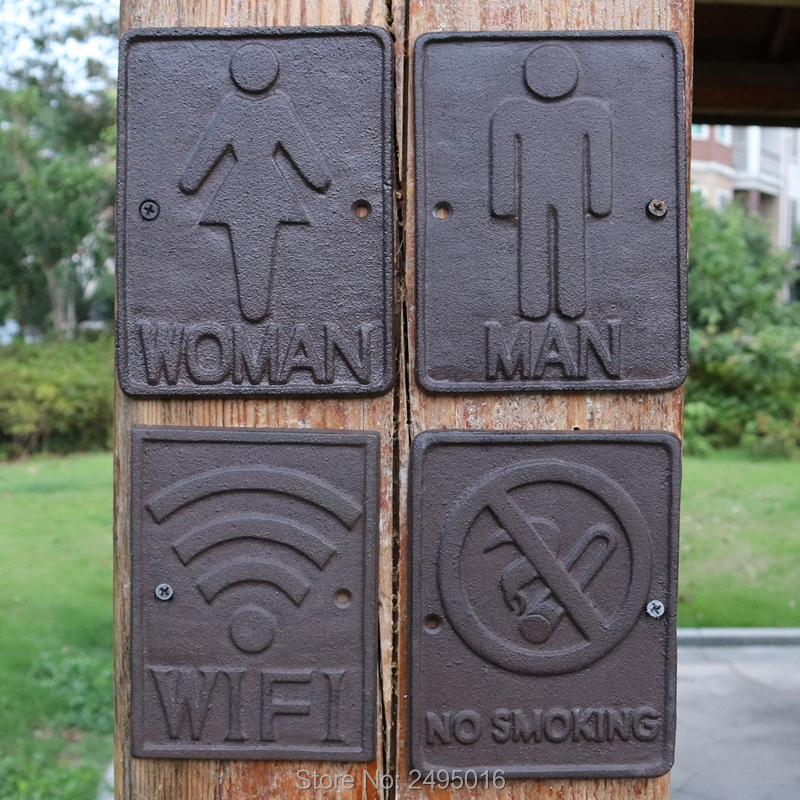 Cast Iron Sign No Smoking in Plaques Signs from Home Garden