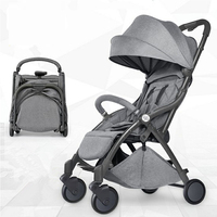 2018 New Automatic light weight cart, lightweight folding, sitting and reclining, automatic folding, 0 5 years old baby carriage