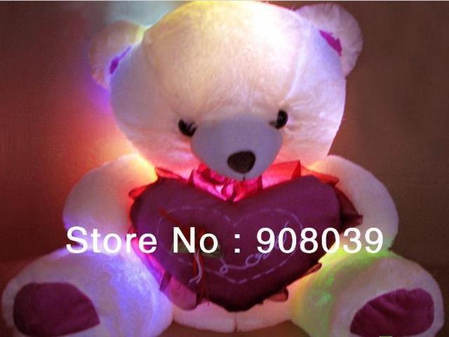 PROMOTION  Luminous teddy bear induction plush toys sent  girl friend birthday gift