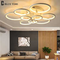 Blue Time Modern LED Chandelier Lighting For Study Room Dining Room Bedroom Living Room Circle Acrylic LED Chandeliers Fixtures