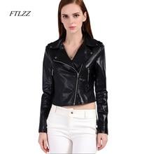 Ftlzz mujer chaqueta de cuero de imitación de cuero Rosa Biker abrigos  Outwear Slim Punk PU chaquetas de diseño corto lindo moto. f9405134342