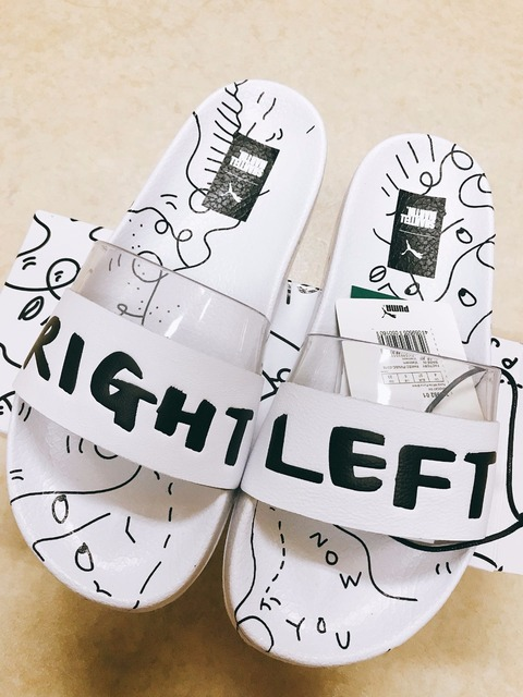 f74aedd73a43 PUMA X SHANTELL MARTIN Clyde Puma black and white joint graffiti  transparent slippers Badminton shoes size 36-44