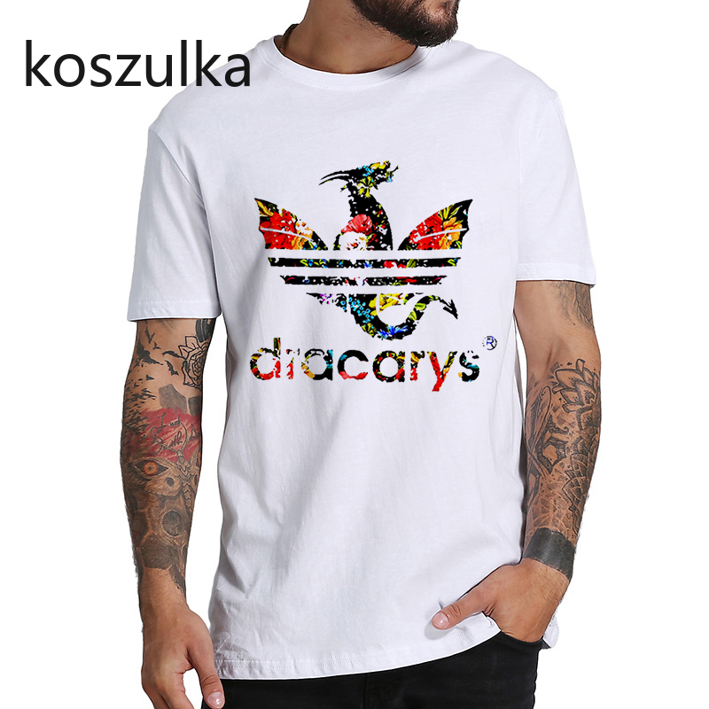Dracarys Men T Shirt Game of Thrones Daenerys T-Shirt Mother of Dragon Khaleesi Harajuku Vintage Camisetas Aesthetic Clothes
