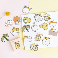 45PCS/PACK Kawaii Cute Guinea Pig Sticker Marker Planner Diary DIY Decorate School Stickers Scrapbooking Bullet Journal sl1720