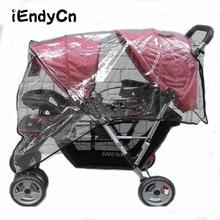 التوأم عربة الأطفال عربة مظلة المياه برهان قبل وبعد المطر الرياح دفعت كرسي غطاء غبار عربة اطفال YUJU27LL