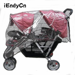 Image 1 - Twin Babies Cart stroller umbrella Water proof Before And After Rain Wind Pushed A Chair Dust Cover Baby Cart YUJU27LL