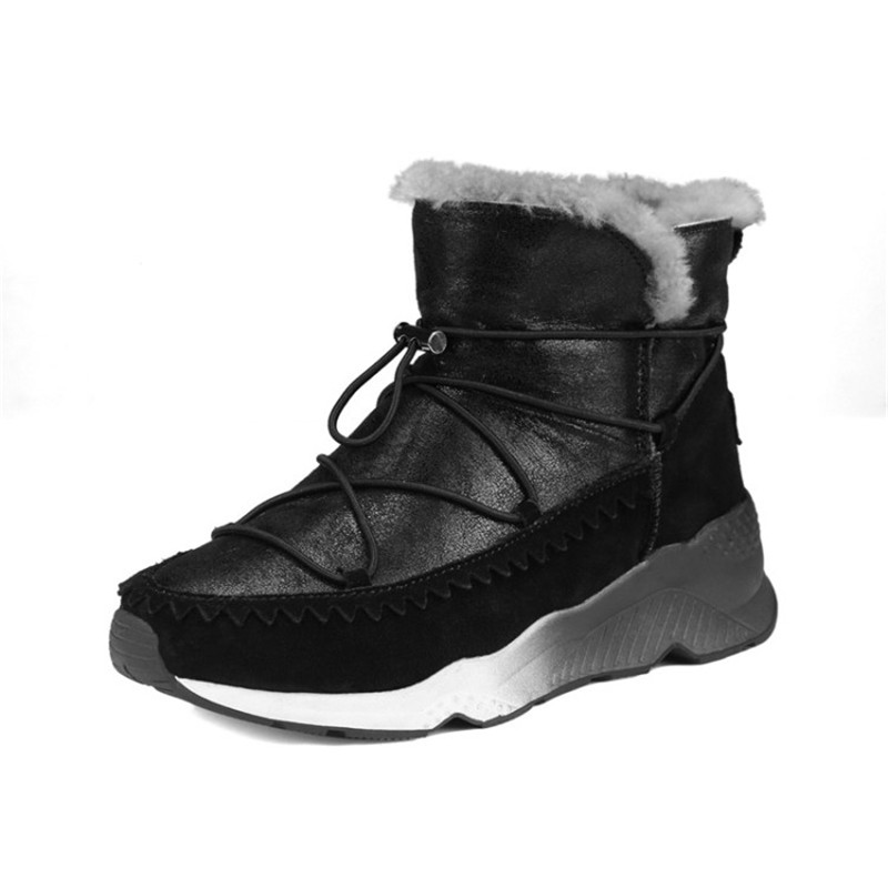 2017 Winter Warm Snow Boots Fashion Women New Boots Woman Shoes Comfortable Leisure Lady Ankle Boots Female BLack Femmes Botas