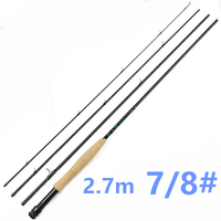 PROMOTION Free Shipping 4 Pieces 7/8 Fly Rods Travel 30T Carbon Lighter 2.7m Fly Fishing Rod