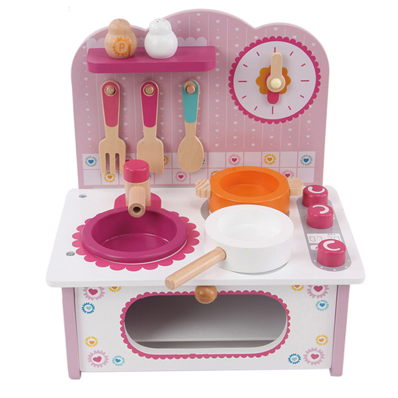 Baby toys kid cooking set wooden kitchen toy for children for Kitchen set 01