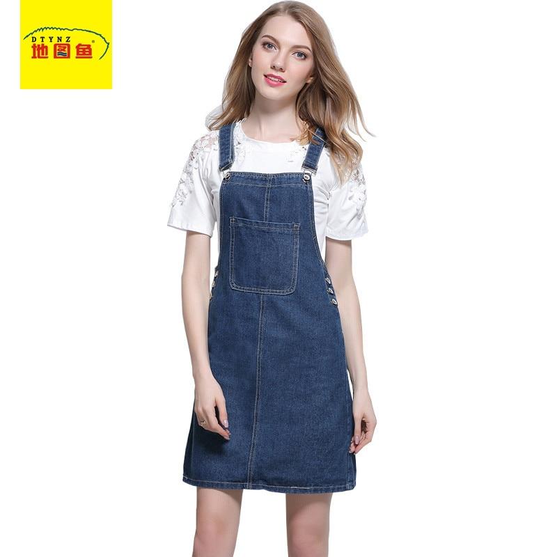 bbd2f87bf € 27.68 |Moda 2017 mujeres overoles falda elegante azul Denim botón  bolsillo Mini straigh Strap falda Vintage Casual mujer Jeans faldas en  Faldas ...
