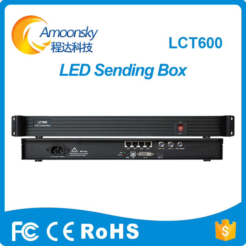 LCT600 LED Sending Card Box Full Color LED Synchronous MSD600 Sending Card Novastar Support Laptop HDMI DVI Input