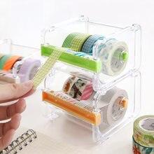 Мини диспенсер бумажных лент washi держатель с двумя пилообразными