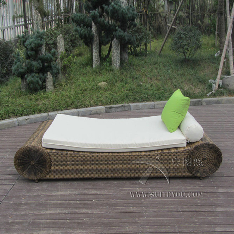 Contemporary Beach Lounge Chair , Outdoor Garden Sun Lounger transport by sea madrid lounge chair