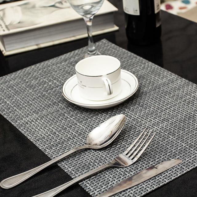4pcs Lot Placemat Fashion Pvc Dining Table Mat Disc Pads Bowl Pad Coasters Waterproof Cloth Slip Resistant