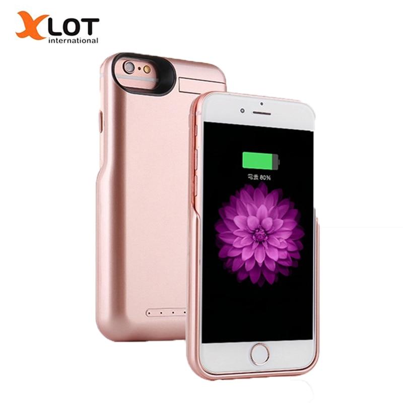 bilder für Ladegerät Fall für iPhone 6 6 s 6 Plus 6 sPlus Energienbank 5000/8000 mAh Externe Batterie Backup Pack ladekoffer für iPhone