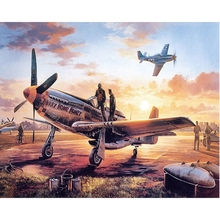 Retro airplane diamond Embroidery diy painting mosaic diamant 3d cross stitch pictures H658