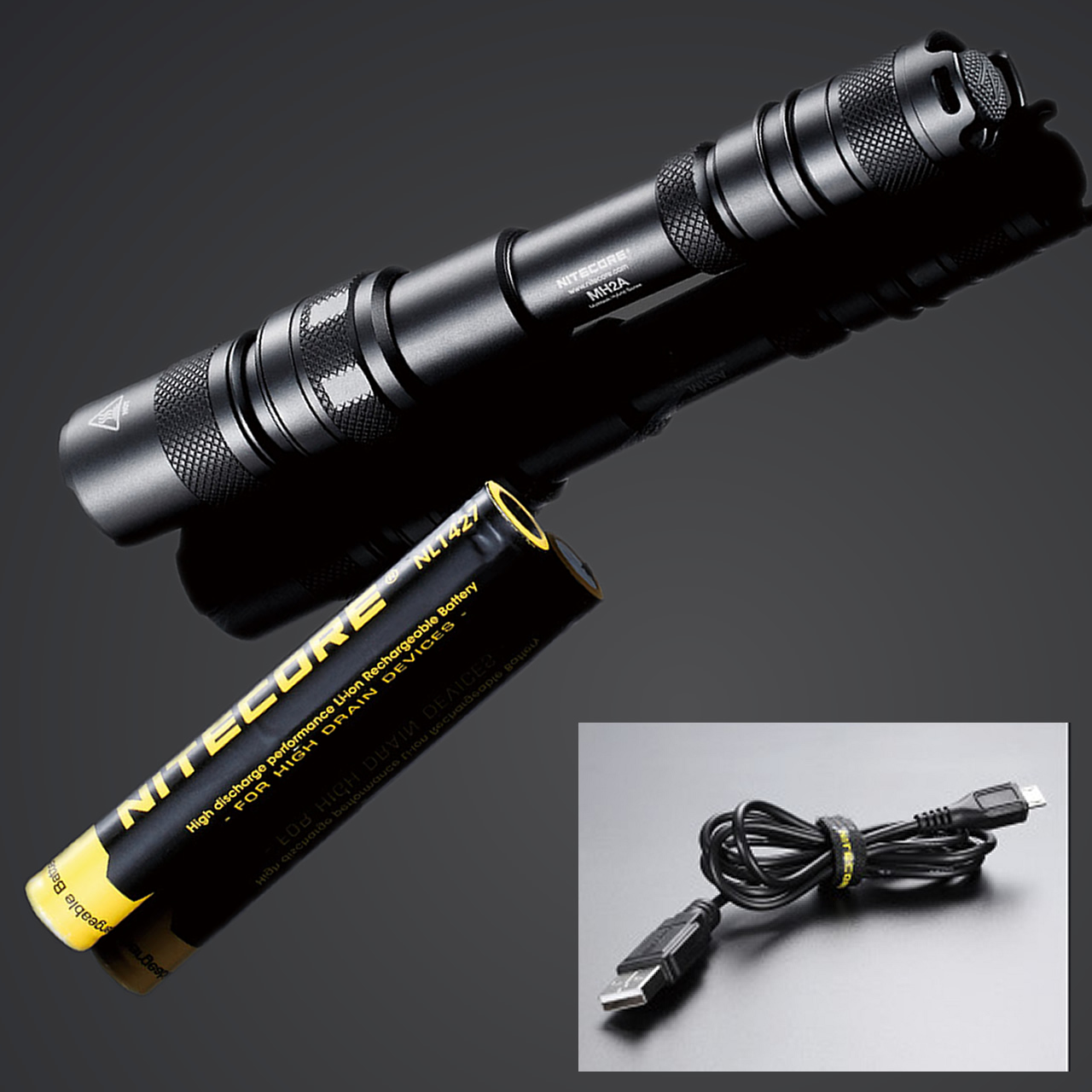 2017 NITECORE MH2A 600 Lumens XM-L U2 LED Rechargeable Flashlight Outdoor Search Rescue Tactical Torch + Battery + Free Shipping nitecore srt6 930 lumens cree xm l xm l2 t6 tactical led flashlight black free shipping